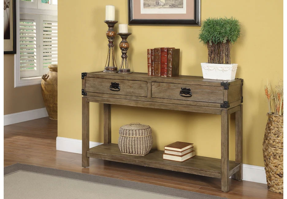 Wooden Console Table with Drawers for Storage