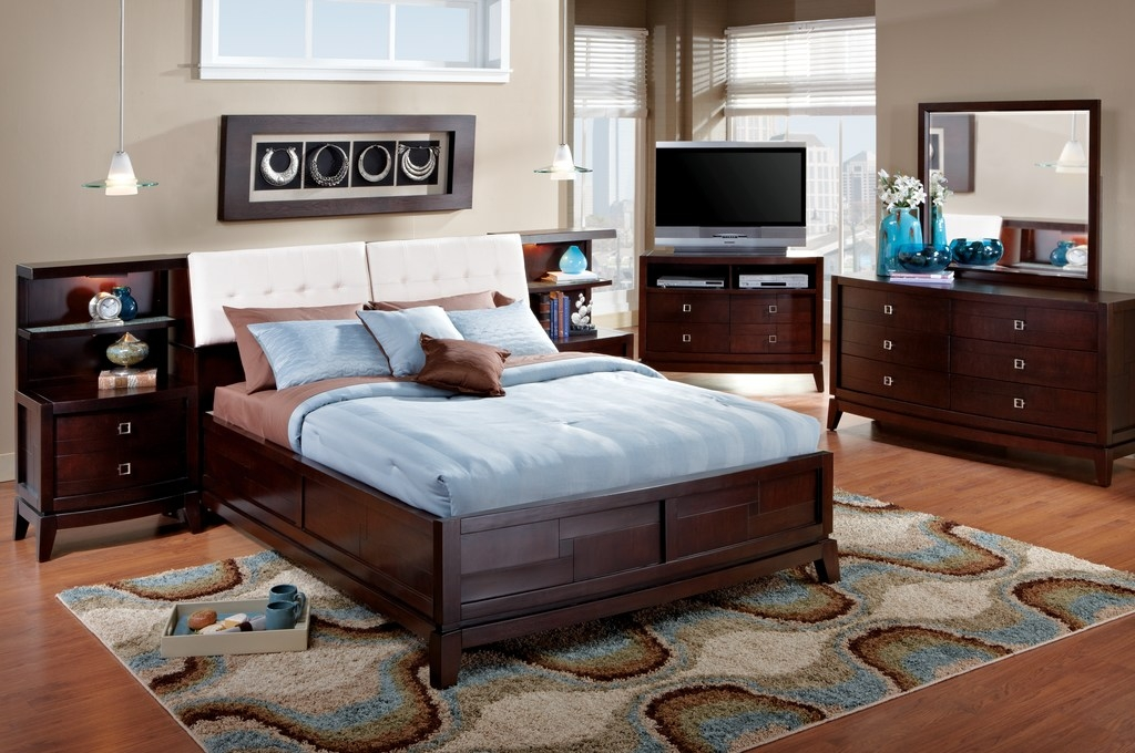 Panel Bookcase Bedroom Set Complemented by Natural Toned Decor