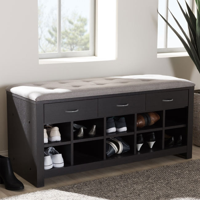 Storage Bench and Shoe Organizer