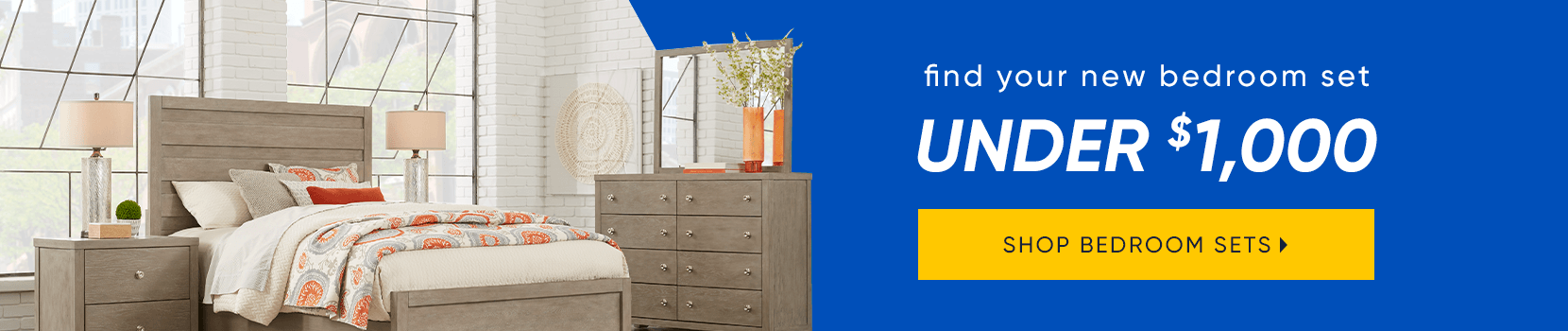 find your new bedroom set under $1000. shop bedroom sets