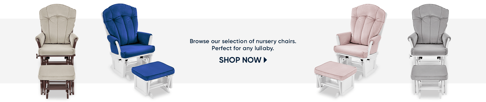 browse our selection of nursery chairs. perfect for any lullaby. shop now
