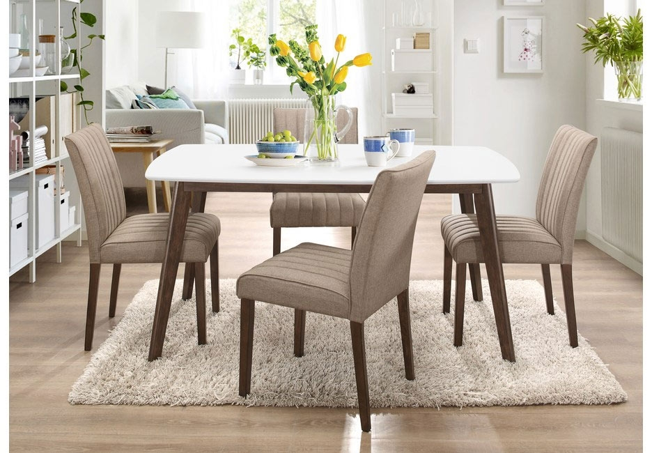 Fairlinks Large Dining Table with Plush Upholstered Chairs
