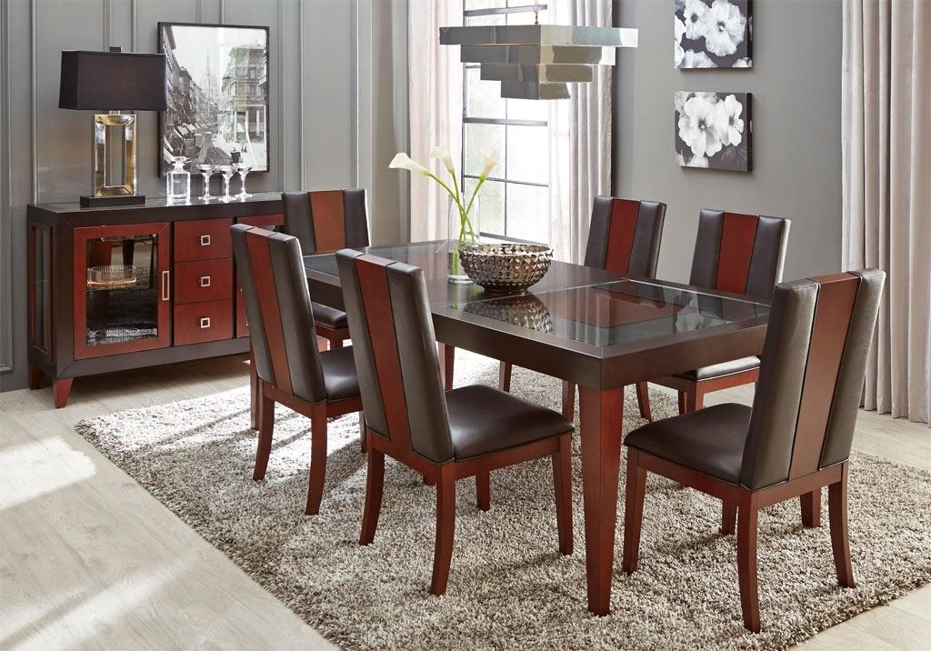 Sofia Vergara Savona Contemporary Dining Room Set with Padded Side Chairs