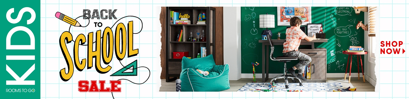 kids back to school sale. shop the sale. $50 desk with purchase of bedroom