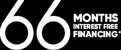 66 months interest free financing*