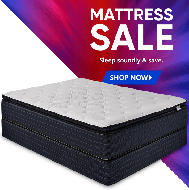 mattress sale. sleep soundly and save. shop now