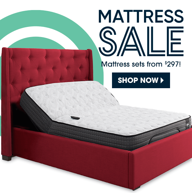 mattress sale. mattress sets from $297. shop now