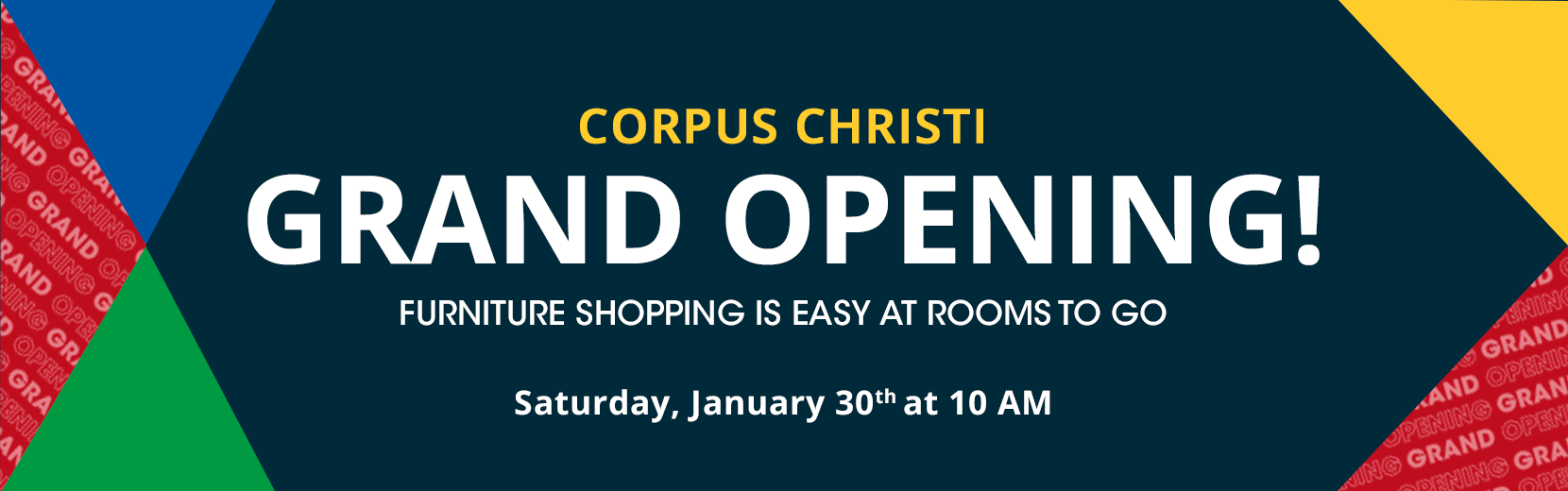 dale mabry grand opening! furniture shopping is easy at rooms to go. saturday, january 30th at 10 am