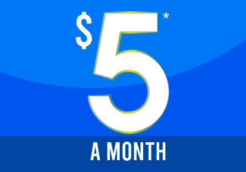 $5* a month