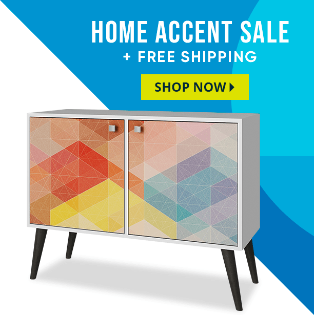 home accent sale + free shipping. shop now