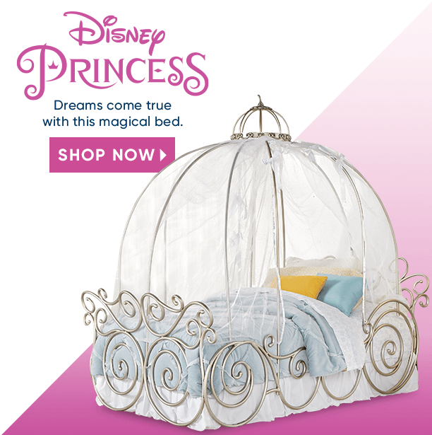 disney princess. dreams come true with this magical bed. shop now