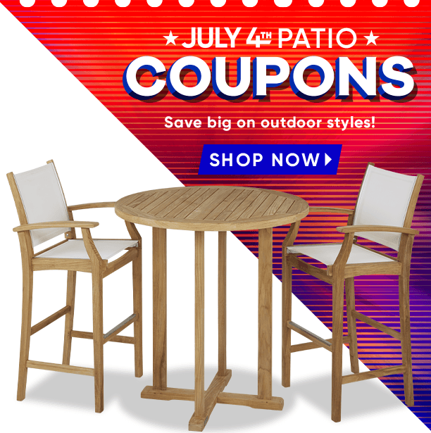 july 4th patio coupons. save big on outdoor styles. shop now