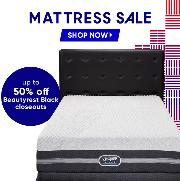 mattress sale. shop now. up to 50% off beautyrest black closeouts
