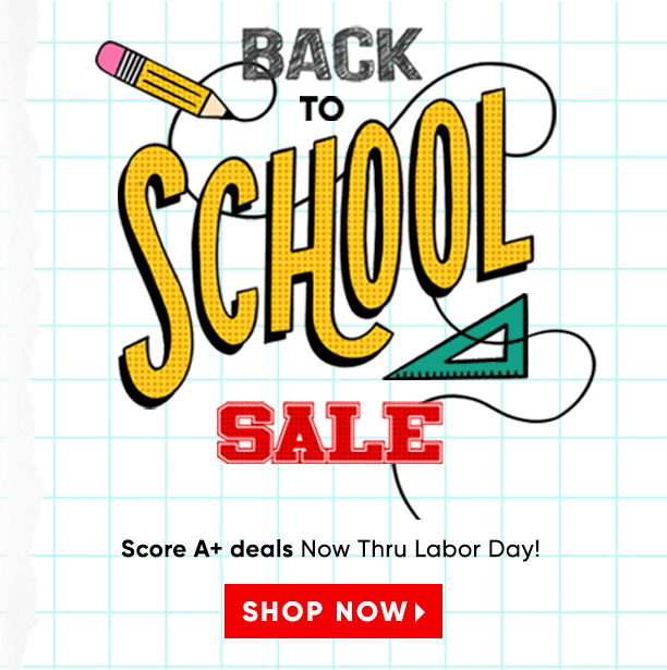 back to school sale. shop the sale