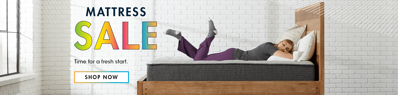 mattress sale. time for a fresh start. shop now