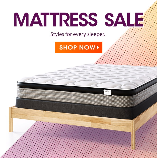 mattress sale. styles for every sleeper. shop now.