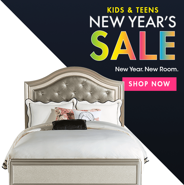 kids & teens new years sale. new year. new room. shop now