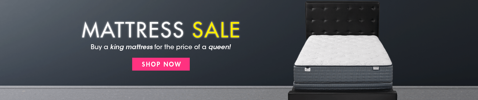 mattress sale. buy a king mattress for the price of a queen. shop now