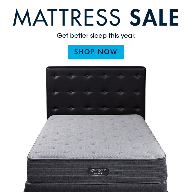mattress sale. get better sleep this year. shop now
