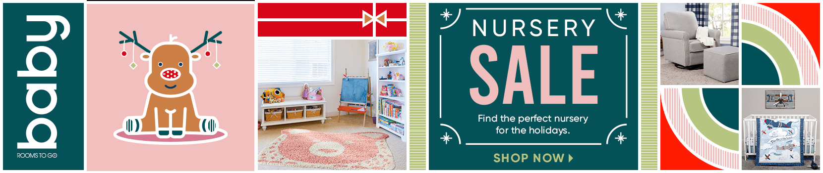 nursery sale. find the perfect nursery for the holidays. shop now