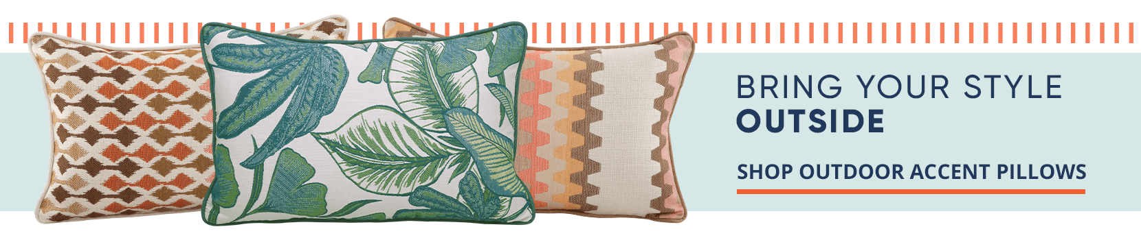 bring your style outside. shop outdoor accent pillows
