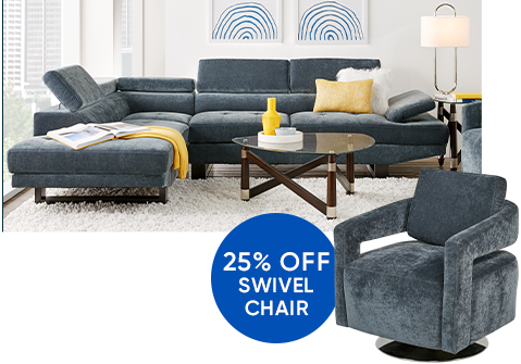25% Off swivel chair