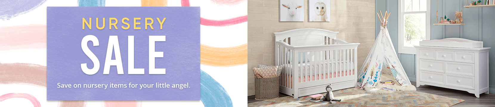 nursery sale. save on nursery items for your little angel