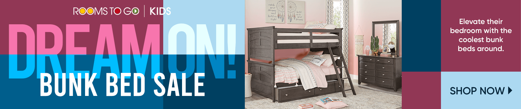 dream on! bunk bed sale. elevate their bedroom with the coolest bunk beds around. shop now