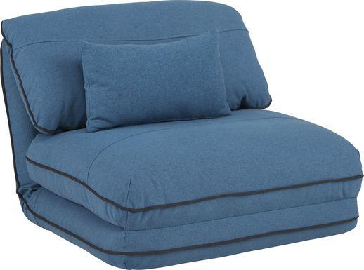 Kids Aalin Blue Sleeper Chair