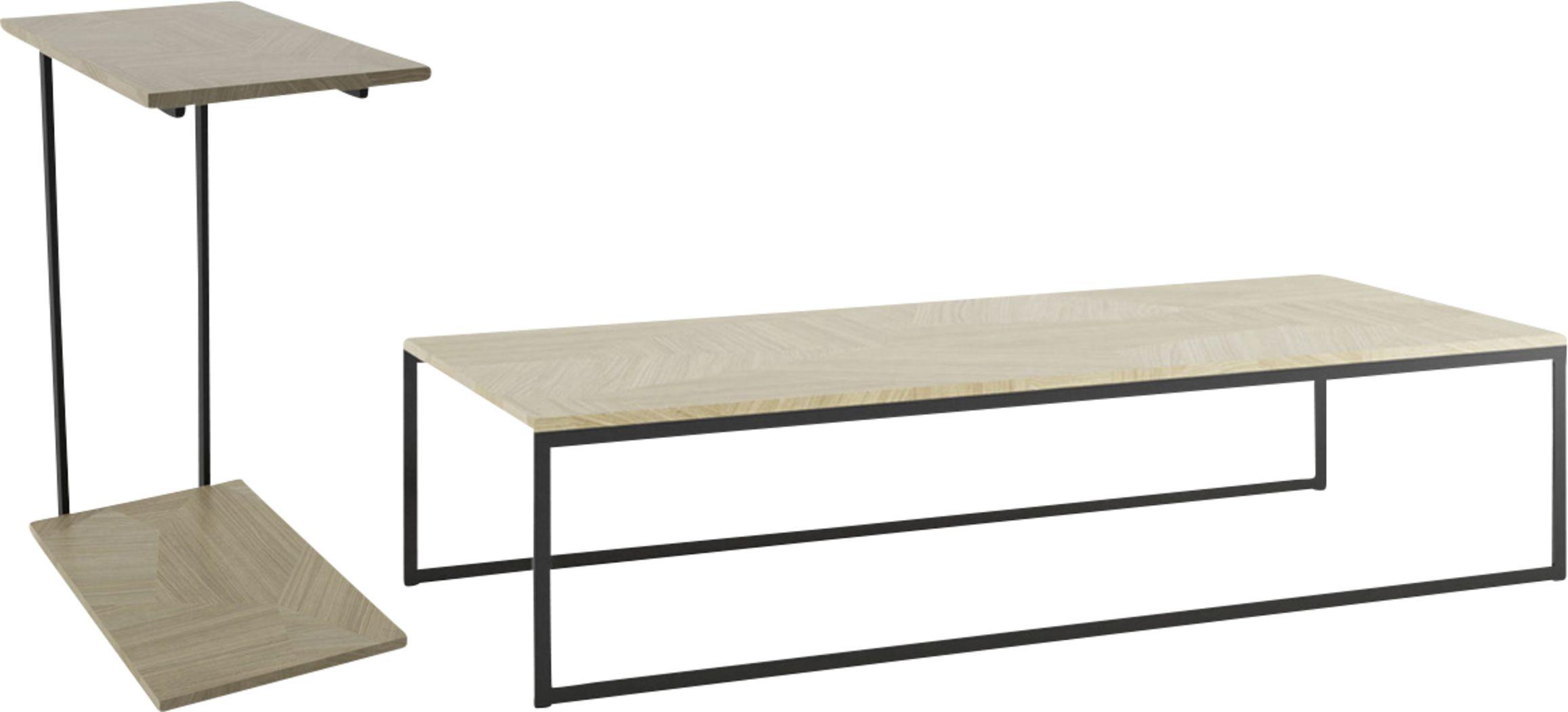 Aardvark Walk Beige 2 Piece Table Set