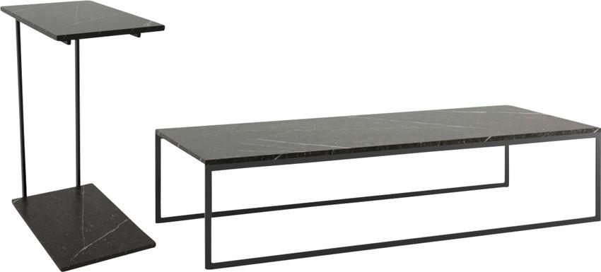 Aardvark Walk Black 2 Piece Table Set
