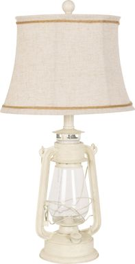 Abanico Court White Lamp, Set of 2