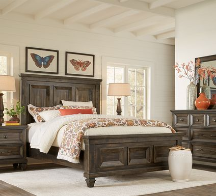 Abbeywood Brown 7 Pc King Panel Bedroom