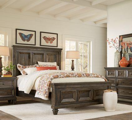 Abbeywood Brown 7 Pc Queen Panel Bedroom