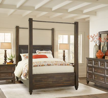 Abbeywood Brown 9 Pc King Poster Bedroom