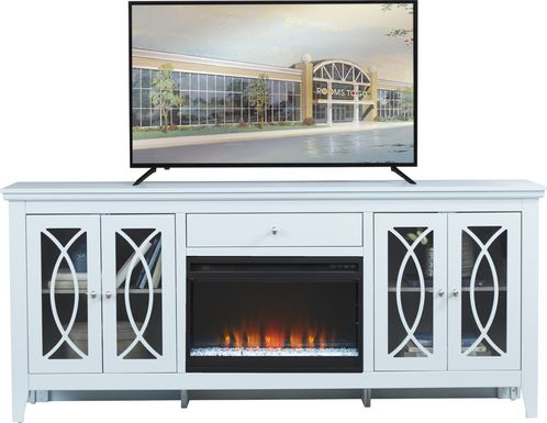 Abbie Sky 80 in. Console with Electric Fireplace