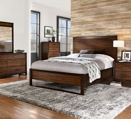 Abbott Hazelnut 5 Pc King Panel Bedroom