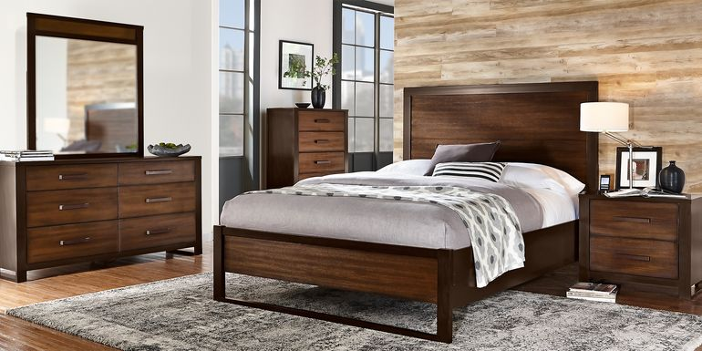 Abbott Hazelnut 5 Pc King Panel Bedroom