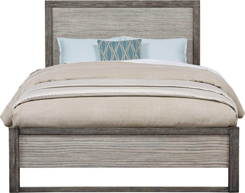 Abbott Gray 3 Pc King Panel Bed