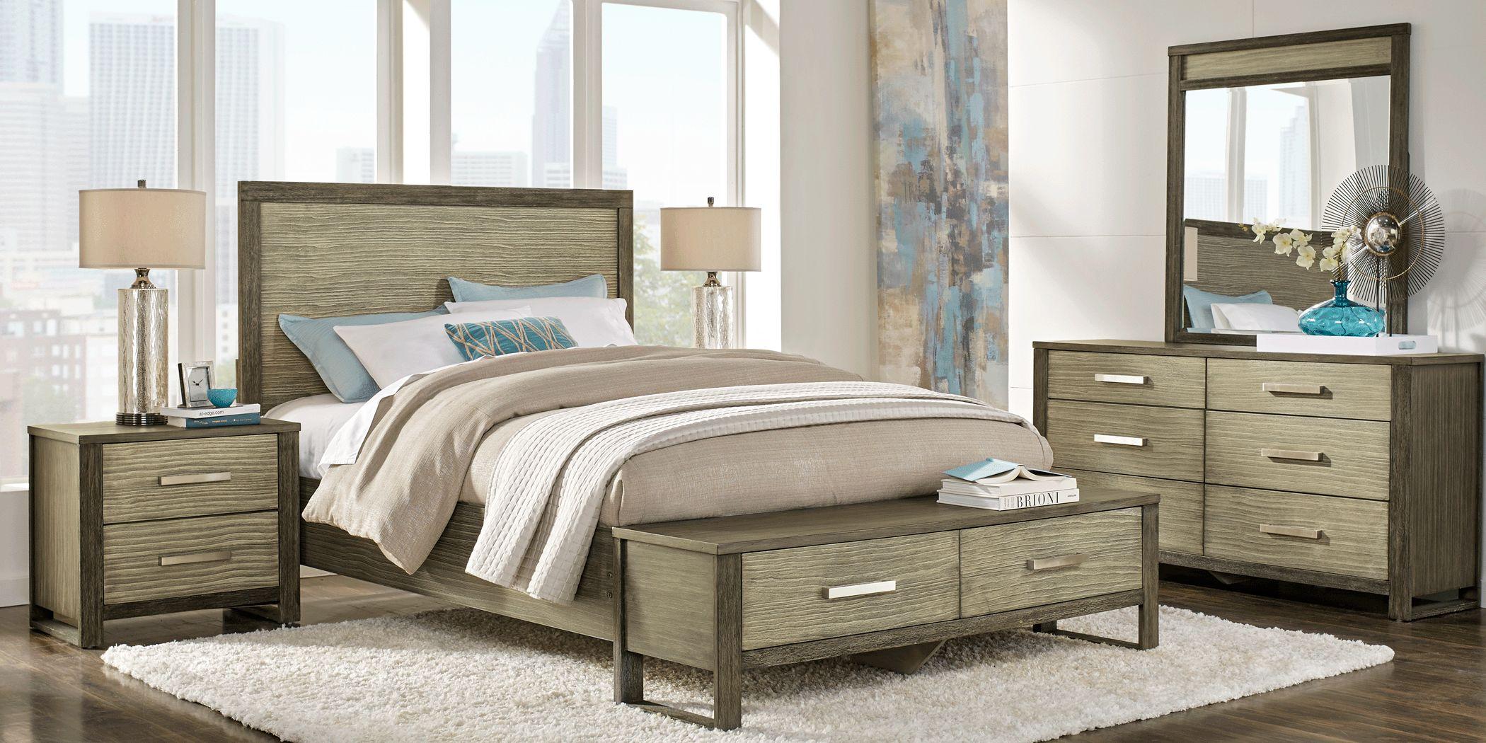 Abbott Gray 5 Pc King Panel Bedroom with Storage