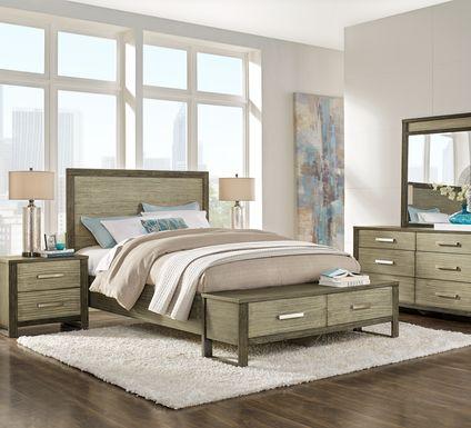 Abbott Gray 7 Pc King Panel Bedroom with Storage