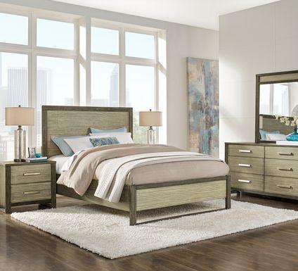 Abbott Gray 7 Pc King Panel Bedroom