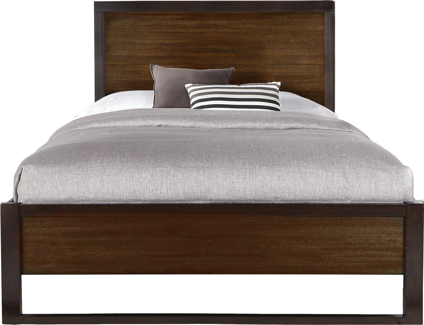 Abbott Hazelnut 3 Pc Queen Panel Bed
