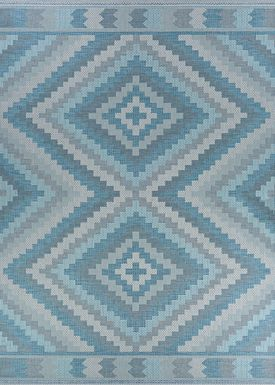 Abella Blue 7'6 x 10'9 Indoor/Outdoor Rug