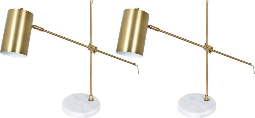 Aberdeen Alley Brass Lamp, Set of Two
