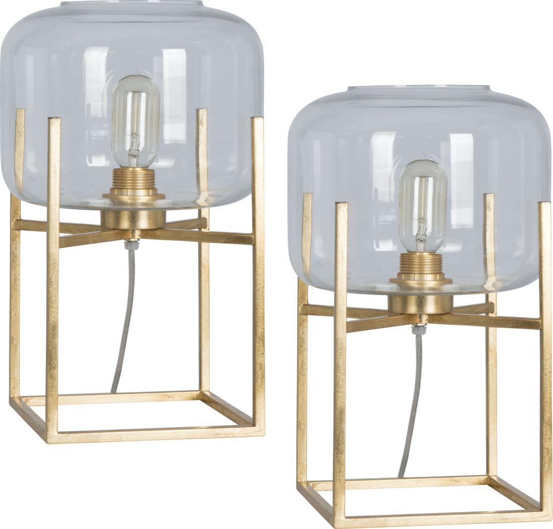 Aberlady Gold Lamp, Set of 2