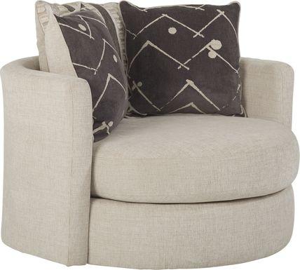 Aberlin Court Beige Swivel Chair
