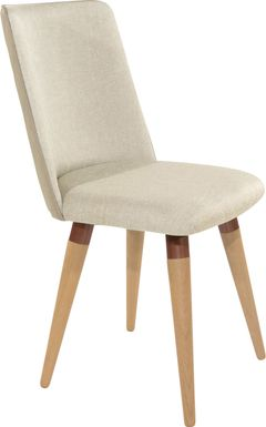 Abita Circle Beige Swivel Side Chair
