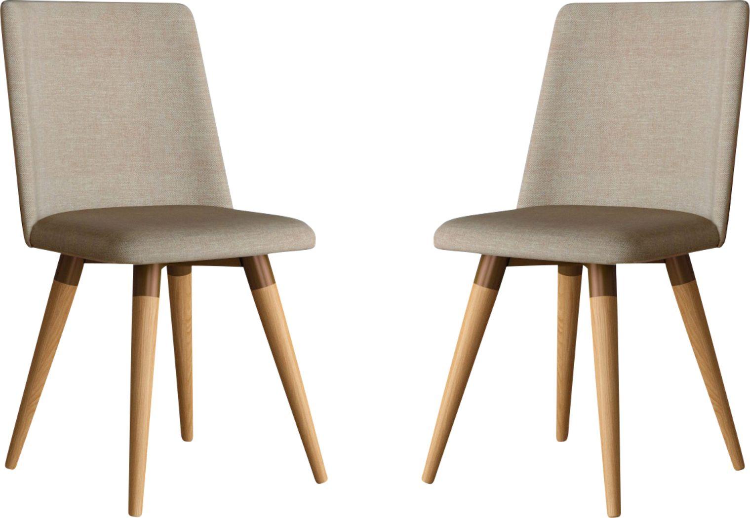 Abita Circle Brown Swivel Side Chair, Set of 2