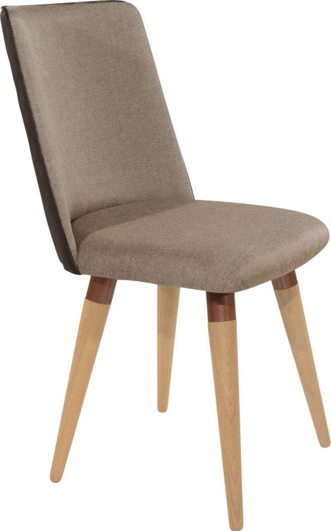 Abita Circle Brown Swivel Side Chair